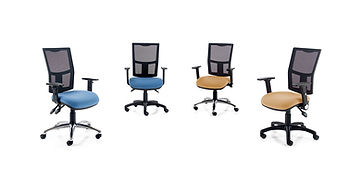 Operator seating with slimlime mesh back and a choice of mechanisms and armrests.