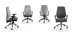 modern task chair with tailored upholstery