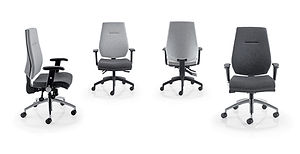 Modern task chair with tailored upholstery and stitch detail with a choice of mechanisms