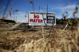 California drought sign