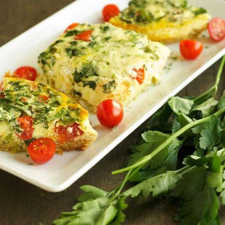 Tomato, Spinach and Quinoa Breakfast Casserole