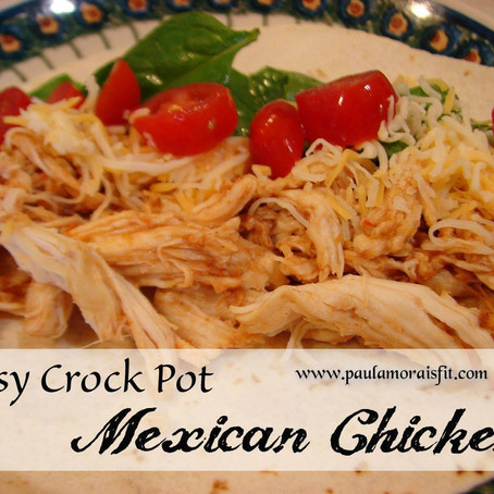 Healthy Crockpot Mexican Chicken