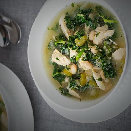 Crock Pot Quinoa, Chicken and Kale Soup