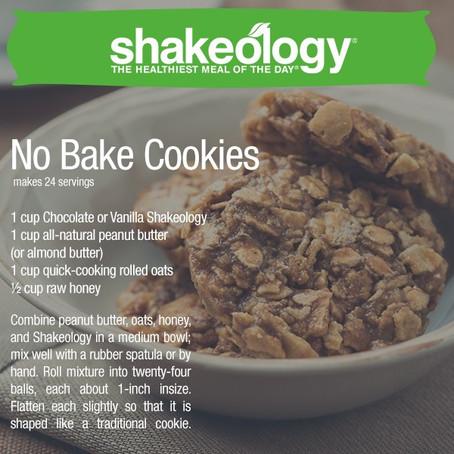No Bake Shakeology Cookies