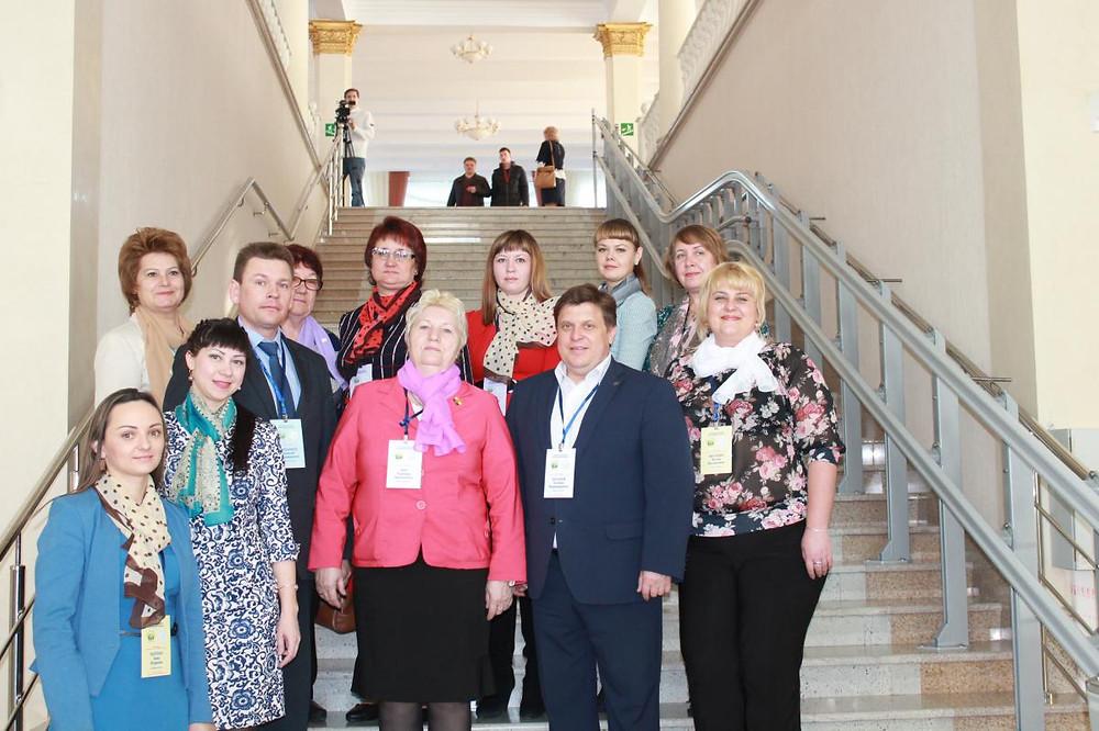 Делегация Барабинского района во главе с Бессоновым Евгением Владимировичем, главой Барабинского района.