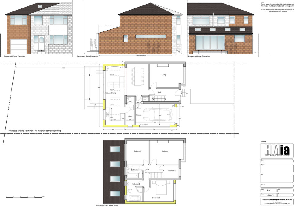 typical planning application drawing