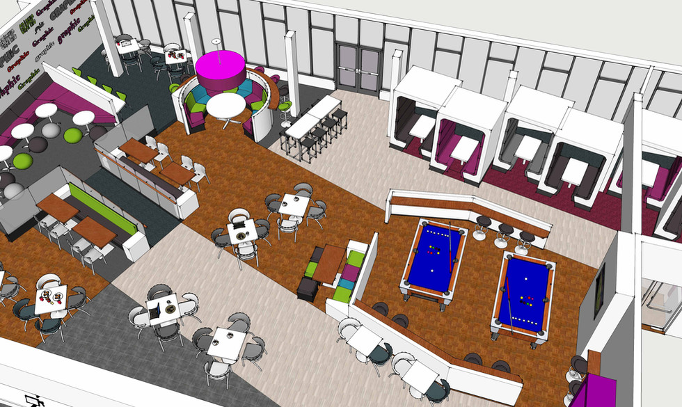 Cafe and chill out area