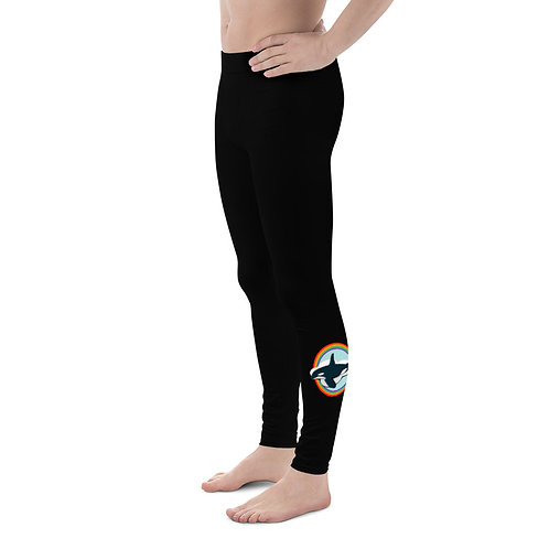 Men's Leggings - Rainbow Orca