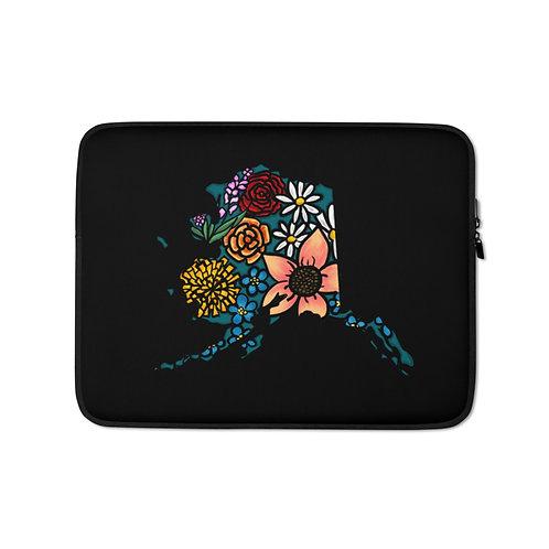 Laptop Sleeve - Flowered Alaska