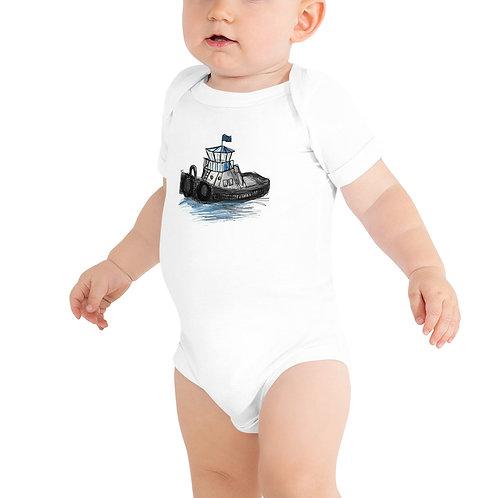 Baby Short Sleeve One Piece - Tug Boat