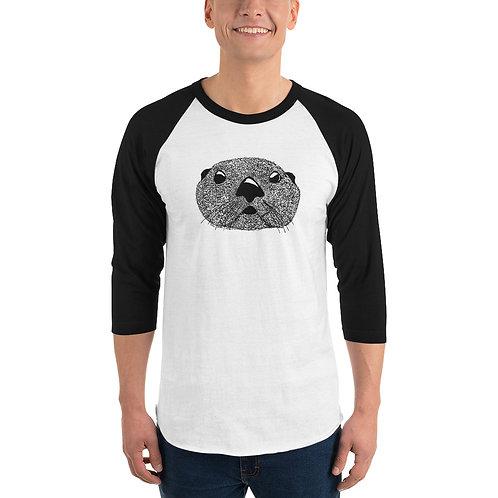 Unisex 3/4 Sleeve Baseball T-Shirt - Squiggly Otter