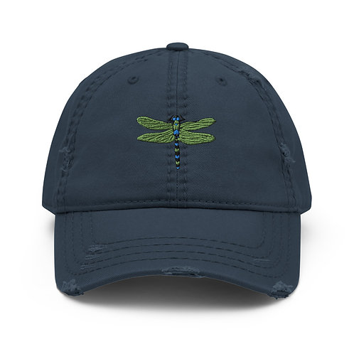 Distressed Dad Hat - Dotted Dragonfly