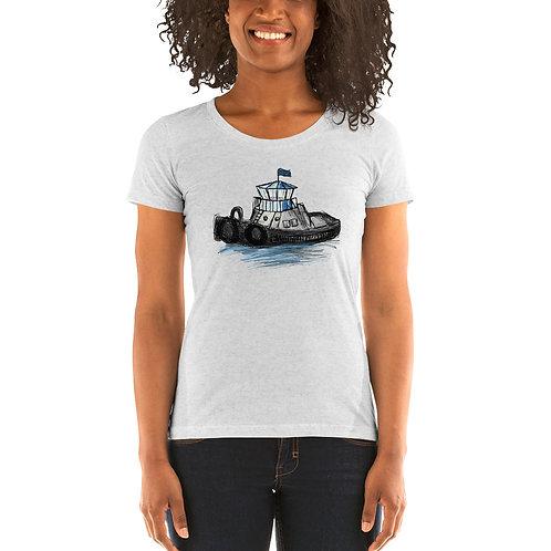 Women's Tri-Blend Short Sleeve T-Shirt - Tug Boat