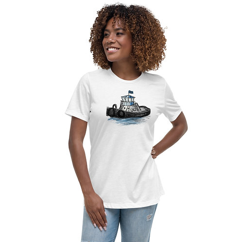 Women's Relaxed T-Shirt - Tug Boat