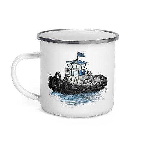 Enamel Mug - Tug Boat