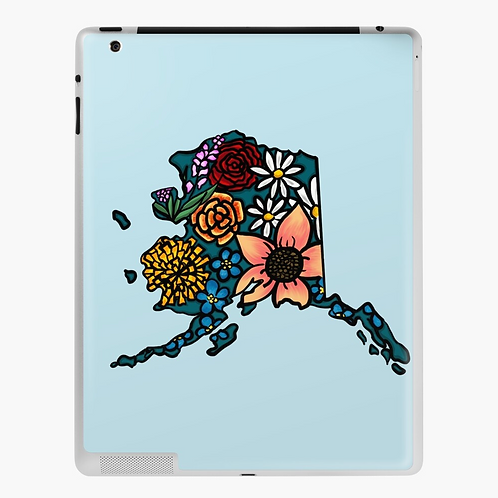 iPad Skin - Flowered Alaska