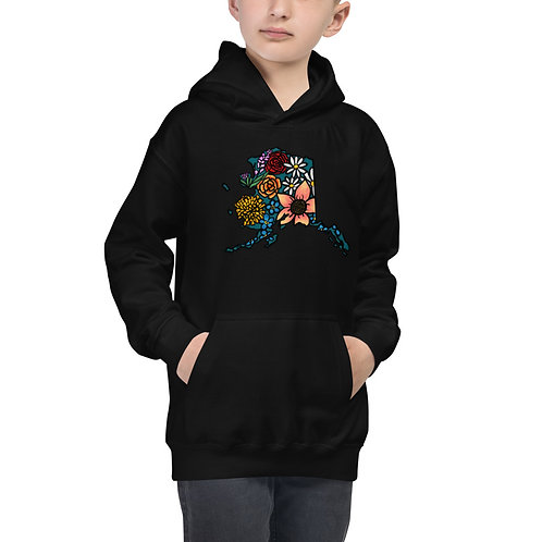 Kid's Hoodie - Flowered Alaska