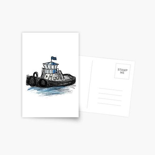 Postcard - Tug Boat