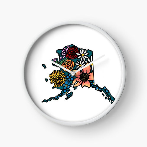 Clock - Flowered Alaska