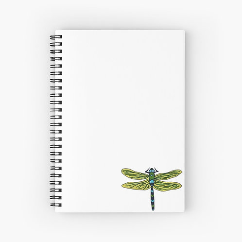 Spiral Notebook - Dotted Dragon Fly