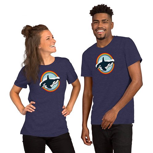 Short-Sleeve Unisex T-Shirt - Rainbow Orca