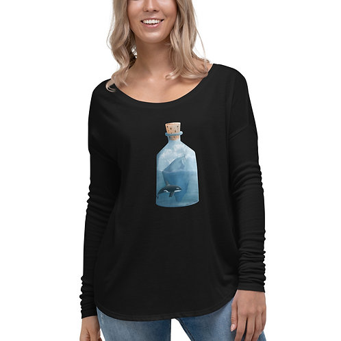 Women's Long Sleeve Tee - Bottled Glacier