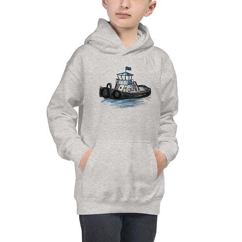 Kids Hoodie - Tug Boat
