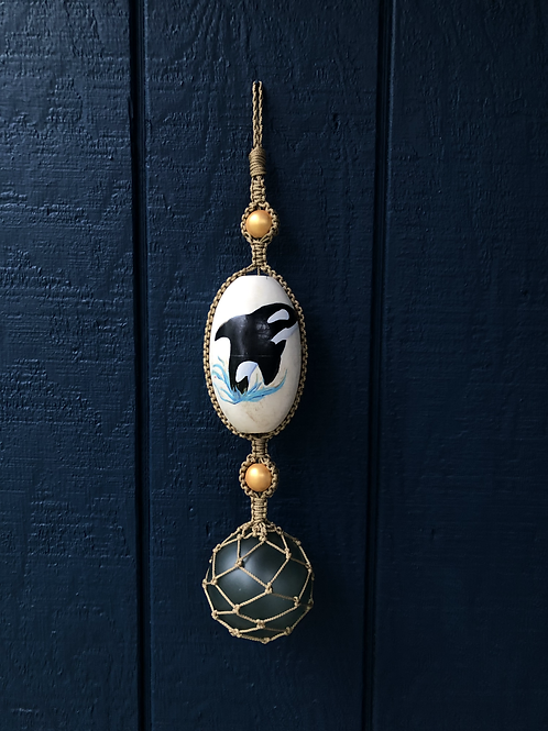 Painted Buoy Hanging - Orca Whale