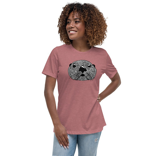 Women's Relaxed T-Shirt - Squiggly Otter