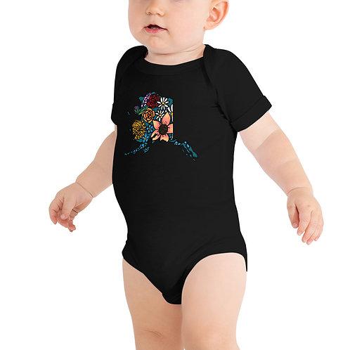 Baby Short Sleeve One Piece - Flowered Alaska