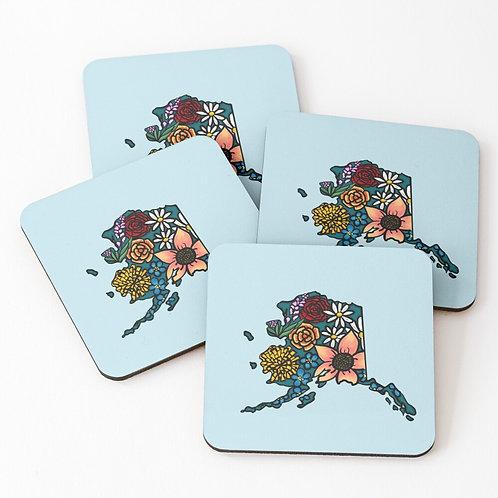 Coasters - Flowered Alaska