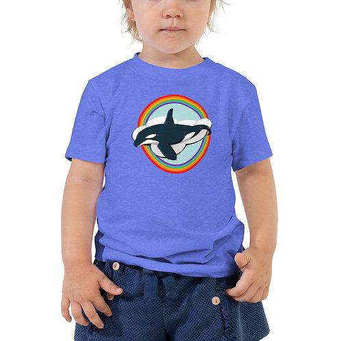 Toddler Short Sleeve Tee - Rainbow Orca