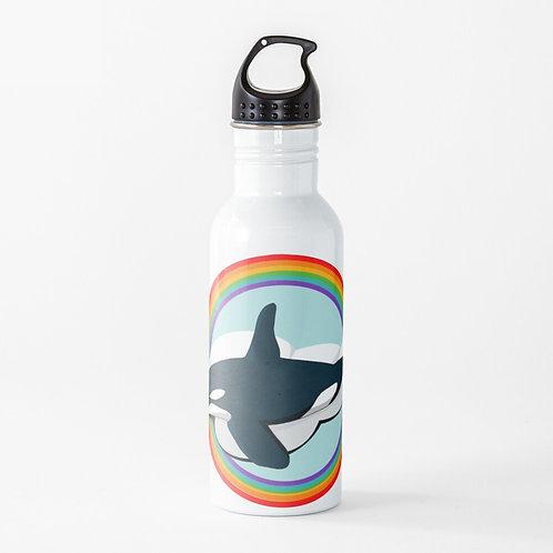 Water Bottle - Rainbow Orca