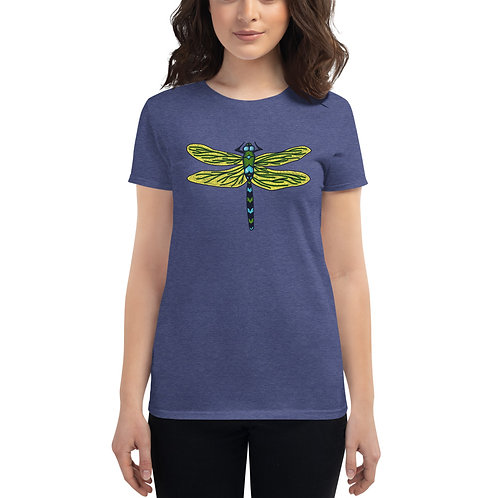 Women's Short Sleeve T-Shirt - Dotted Dragonfly