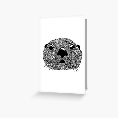 Greeting Card - Squiggly Otter