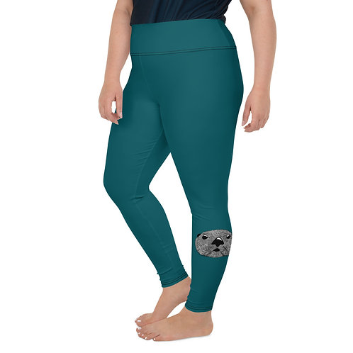 Plus Size Leggings - Squiggly Otter