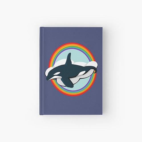 Hardcover Journal - Rainbow Orca