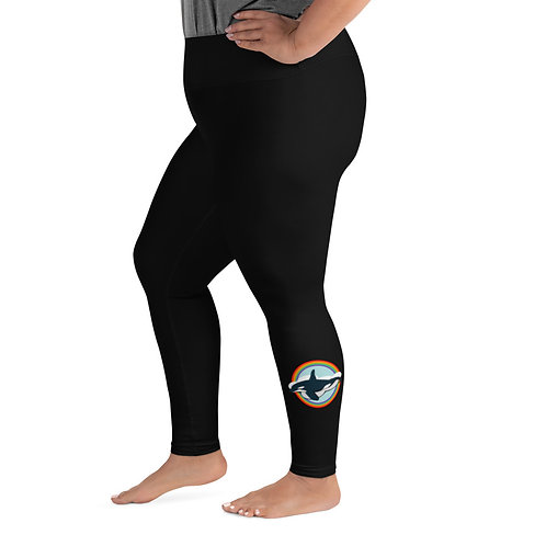 Plus Size Leggings - Rainbow Orca
