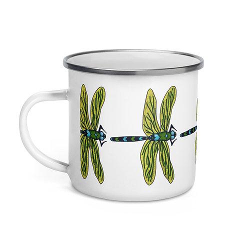 Enamel Mug - Dotted Dragonfly
