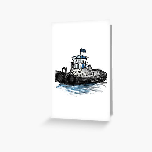 Greeting Card - Tug Boat