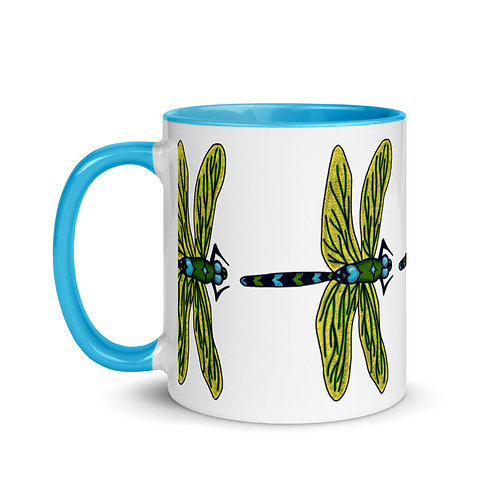 Mug with Color Inside - Dotted Dragonfly