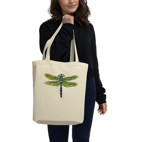 Eco Tote Bag - Dotted Dragonfly
