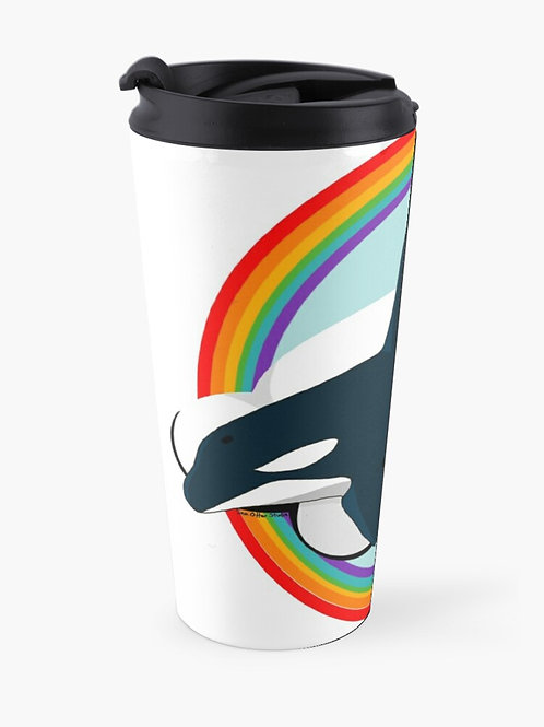 Travel Mug - Rainbow Orca