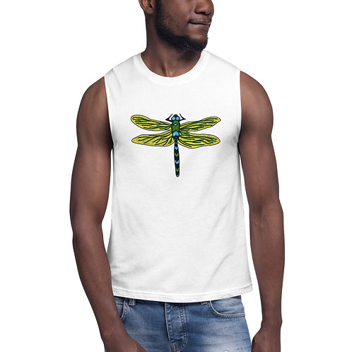 Unisex Muscle Shirt - Dotted Dragonfly