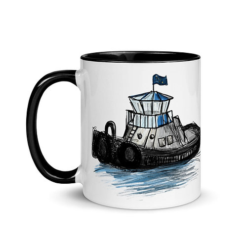 Mug with Color Inside - Tug Boat