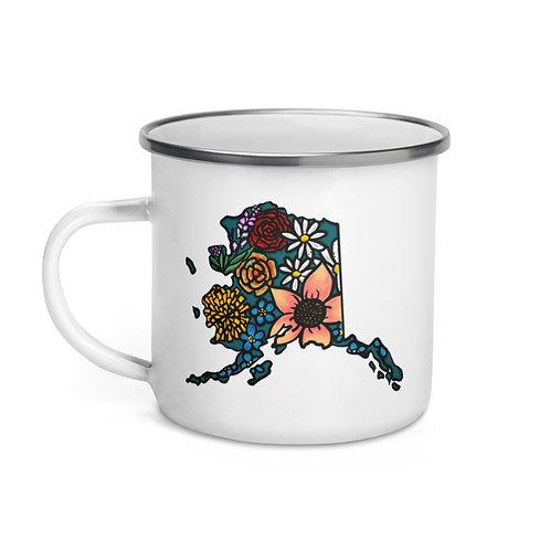 Enamel Mug - Flowered Alaska