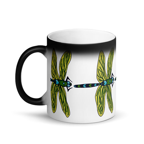 Matte Black Magic Mug - Dotted Dragonfly