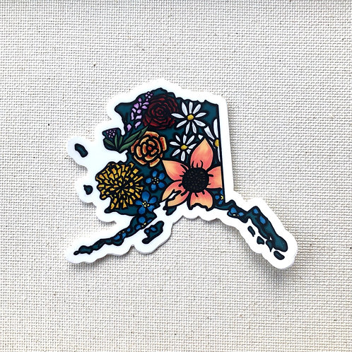 Sticker - Flowered Alaska