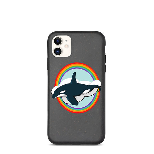 Biodegradable iPhone Case - Rainbow Orca