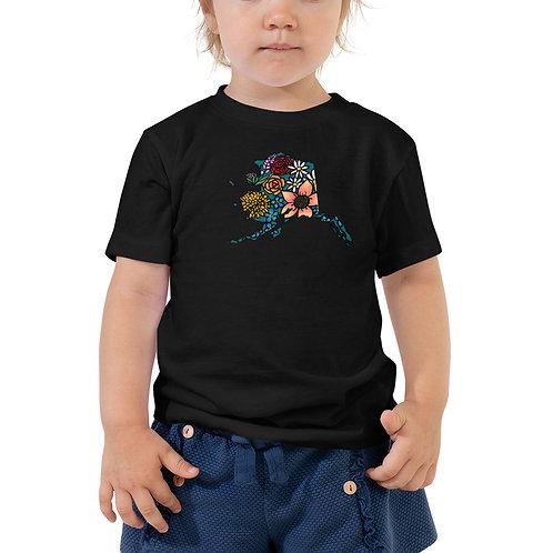 Toddler Short Sleeve Tee - Flowered Alaska
